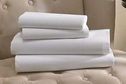 1 queen white hotel fitted sheet t200 percale 60x80x12 deep