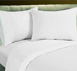 1 NEW BEST QUALITY WHITE COTTON BLEND FLAT SHEET SALE T250