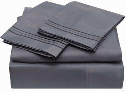 100% Egyptian Cotton Sheets Set, 400 Thread Count Long Stapl