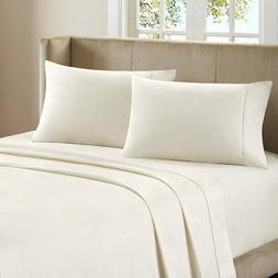 100% Percale Cotton 400 TC 4 Piece Sheet Set Size Queen Ivor