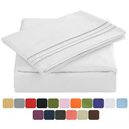 Tastelife 105 GSM Deep Pocket Bed Sheet Set Brushed Hypoalle