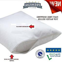 12 pack new t-180 queen zippered pillow protector cover 20x3
