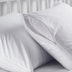 12-pack new white queen size zippered pillow protectors 20x3