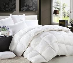 Luxurious Queen Size Siberian Goose Down Comforter All-Seaso