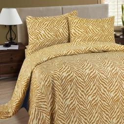 Lavish Home 1200 4-Piece Tiger Sheet Set, King