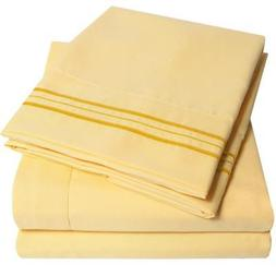 1500 Supreme Collection Bed Sheets Set - PREMIUM PEACH SKIN