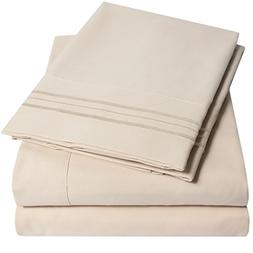 1500 Supreme Collection Extra Soft Queen Sheets Set, Beige -