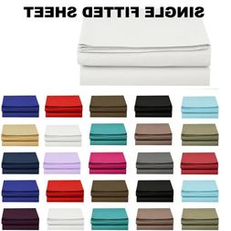 1500 Thread Count Single Fitted Sheet Top Sheet Available in