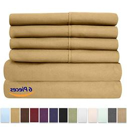Sweet Home Collection 6 Piece 1500 Thread Count Brushed Micr
