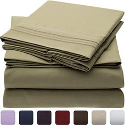 Mellanni 1800 Bedding Wrinkle, Fade, Stain Resistant Hypoall