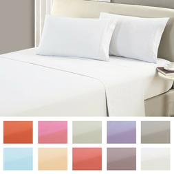 Mellanni 1800 Collection Microfiber Flat Sheet - Wrinkle, Fa