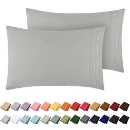 Mellanni 1800 Collection Microfiber Pillowcase Set Wrinkle,