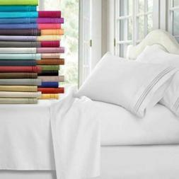 Egyptian Comfort 1800 Count Bed Sheets 4 Piece Bed Sheet Set