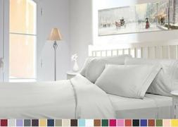 1800 COUNT DEEP POCKET 4 PIECE BED SHEET SET - 26 COLORS AND