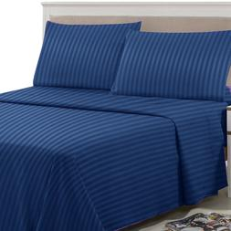 Egyptian Comfort 1800 Thread Count Bed Sheet Set - 4 Piece D
