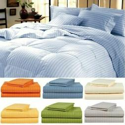 1800 Series Hotel Edition Egyptian Bed Sheet Set - Striped 6