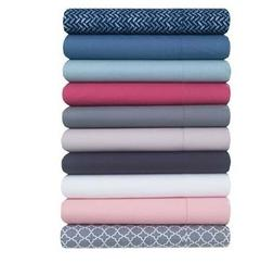 200 Thread Count Percale Cotton Sheet Set King Queen Full Tw