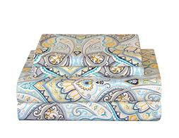 Pointehaven 200 Thread Count Percale Sheet Set Queen Cypress