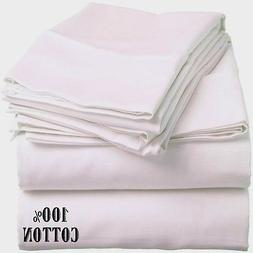 3 new white queen size hotel fitted sheets 60x80x12 200 thre