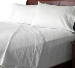 Lavish Home 300 Thread Count Cotton Sateen Sheet Set, King,