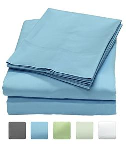 300 Thread Count 100% Long Staple Cotton Sheet Set, Soft & S