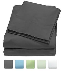 300 Thread Count 100% Cotton Sheet Set, Soft Sateen Weave, Q