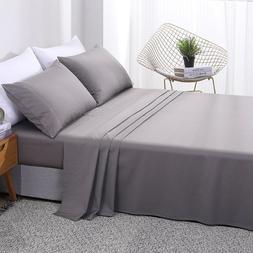 PHF 300 Thread Count Bamboo Cotton Bed Flat <font><b>Sheet</