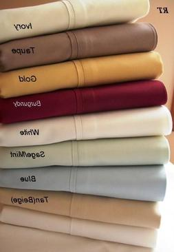 300tc Queen Size Solid Sheet Sets 100% Egyptian Cotton, Beig