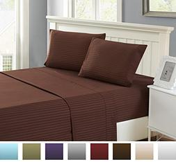 4 Piece: Lux Decor Collection Full Bed Sheet Set - HIGHEST E