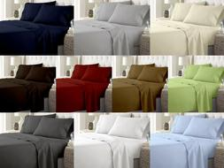 4 PIECE SUPER SOFT DEEP POCKET BED SHEET SET in All Size And