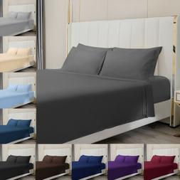 4 Piece Bed Sheet Set 1800 Count Egyptian Bed Sheet Deep Poc