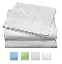 400 Thread Count 100% Long Staple Cotton Sheet Set, Dobby Sa