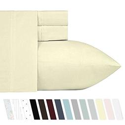 400 Thread Count 100% Cotton Sheet Set on Amazon, Vanilla Ye