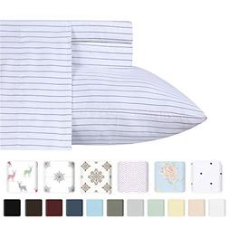 400 Thread Count 100% Cotton Sheet Sets in Printstripe Print