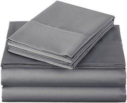 AmazonBasics 400 Thread Count Sheet Set, 100% Cotton, Sateen