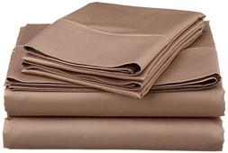 Rinku Linen 500 Thread Count Egyptian Cotton 4-Piece Sheet S