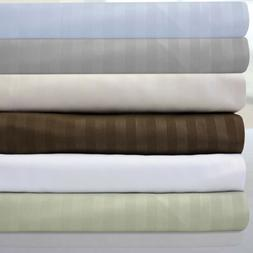 6 Piece Dobby Stripe 1500 Thread Count Egyptian Quality 16""