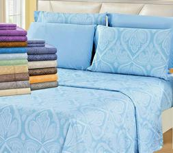 Deep Pocket Bed Sheet 6 Piece Set 1800 Series Egyptian Comfo