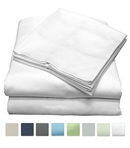 600 Thread Count 100% Cotton Sheet Set, Soft Sateen Weave, Q