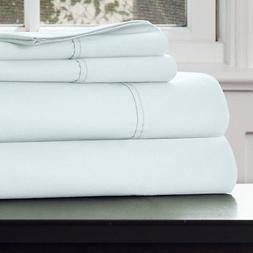 Lavish Home 66-Q0016-SG 1000 TC Cotton Rich Sateen Sheet Set