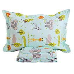 Brandream 800 TC Blue Boys Bedding Animal World Bedding Supe