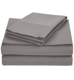 AmazonBasics Microfiber Sheet Set - Queen, Dark Grey 1-Pack
