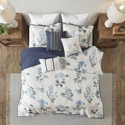 BEAUTIFUL COTTAGE CHIC BLUE WHITE COUNTRY FARMHOUSE ROSE FLO