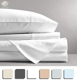 California Cotton Club, 600 Thread Count Bed Sheets Set, 100