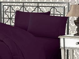 Elegant Comfort 1500 Thread Count Egyptian Quality 4-Piece B