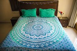 Hippie Mandala Tapestry Bedding with Pillow Covers, Bohemian