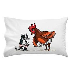 In Your Shorts Funny Rooster & Kitty Cat Adult Humor Joke Si
