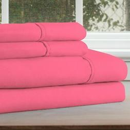 Lavish Home Pink Full Size Microfiber Thin Summer Sheet Set