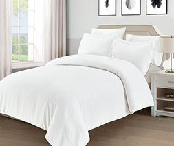 Mellanni Duvet Cover Set White - Double Brushed Microfiber 1