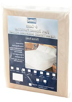 """The Allergy  Store Fitted Vinyl Mattress Cover, 6 Gauge, 16"""""""